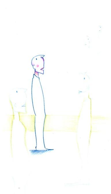 DREAMERS (pastels, 10x20)