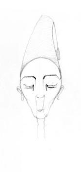 FACE 1 (pencil, 10x10)