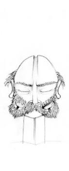 FACE 2 (pencil, 10x10)