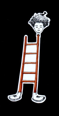 LADDER (ink+markers, 10x20)