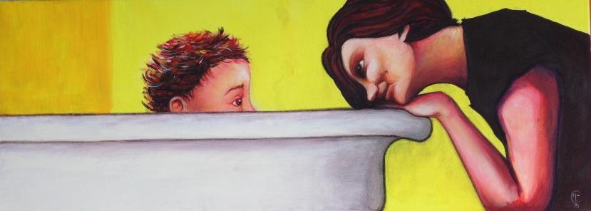 MATERNITY (mix media on canvas, 150x120)
