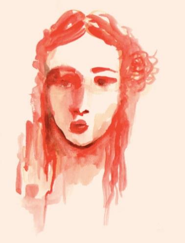 SELFPORTRAIT 1 (watercolor, 15x20)